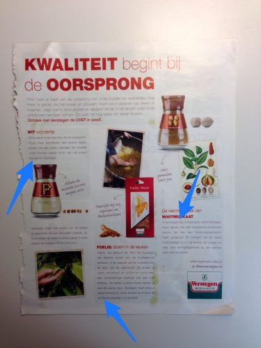 Advertisement in customer magazine Allerhande, May 2016